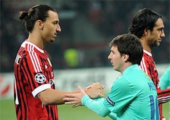Messi y Zlatan