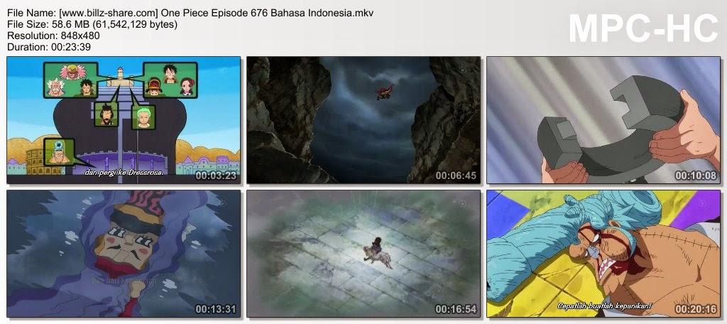 One Piece Episode 676 (Operasi Telah Gagal! Sang Pahlawan, Usoland Telah Mati?!) Bahasa Indonesia