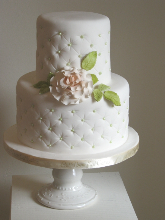 Small wedding cake for an intimate wedding celebration