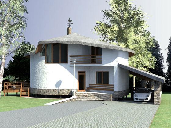 проект дома из соломы