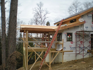 Screen porch, tyvek, timber frame, ely mn huisman