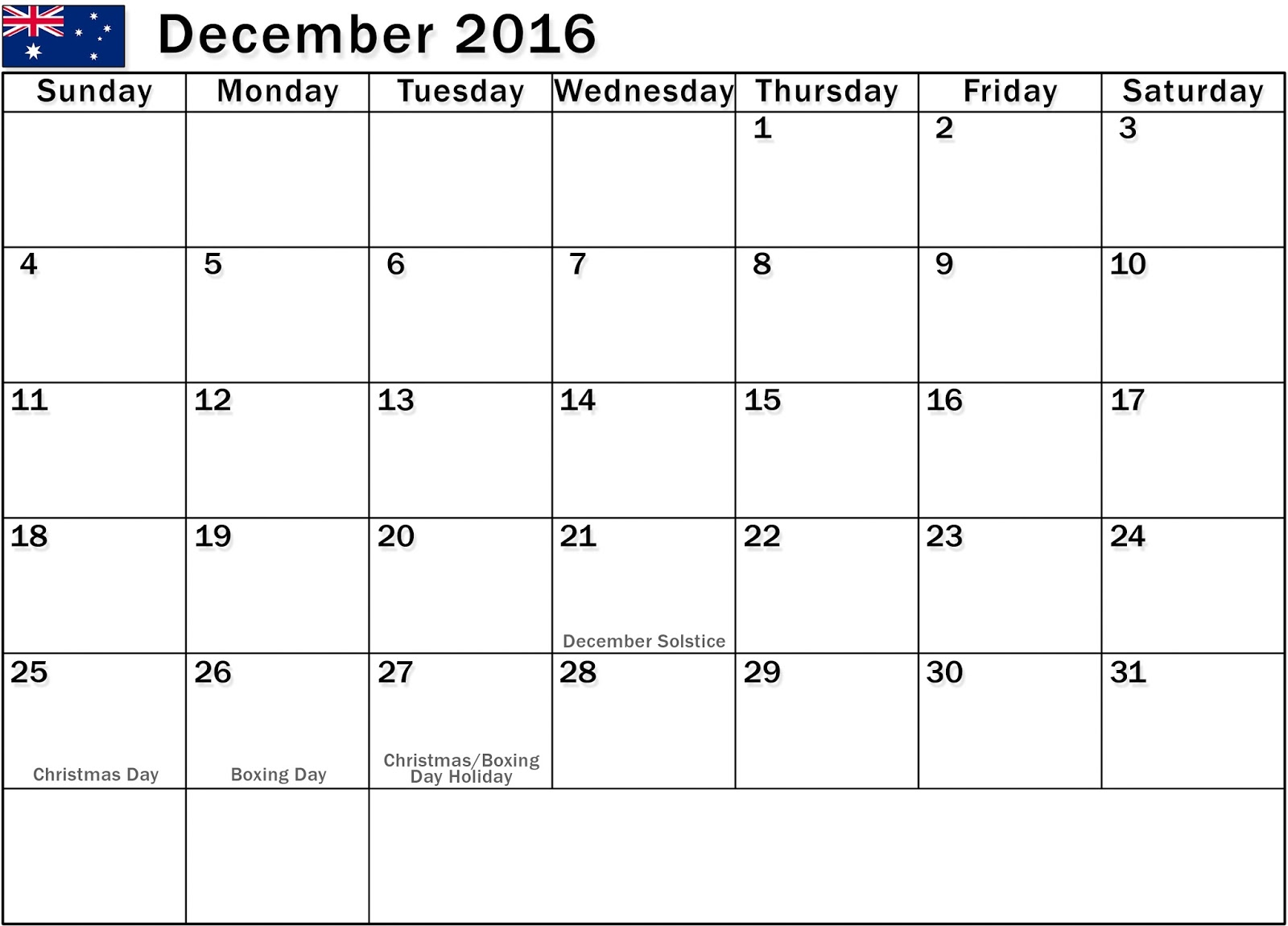 Calendar with UK Holidays Free, December 2016 Printable Calendar Cute ...