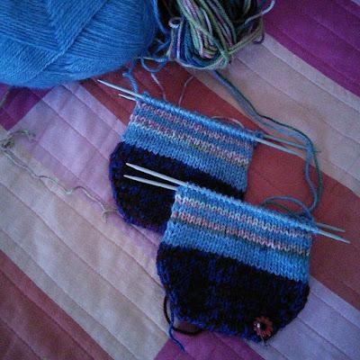 knitting progress - Christmas time