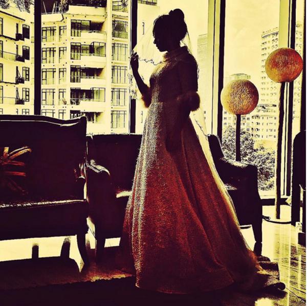 (GAMBAR) Bila Nora Danish Fitting Baju Kahwin, Alahai COMEL!!