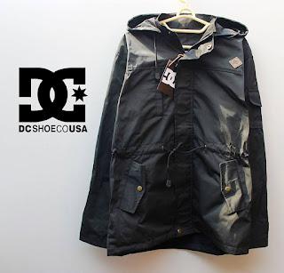 jaket parka DC hitam polos