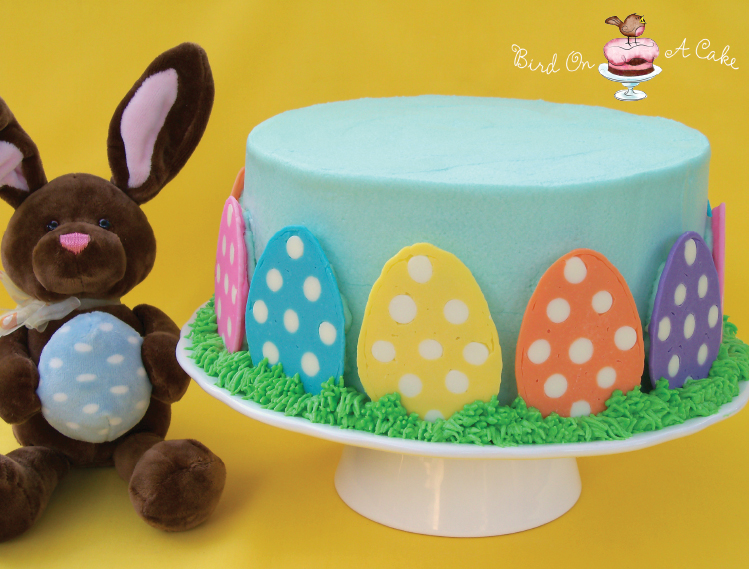 Cake Decorated With Easter Eggs : Bird On A Cake: Polka Dot Easter Egg Cake