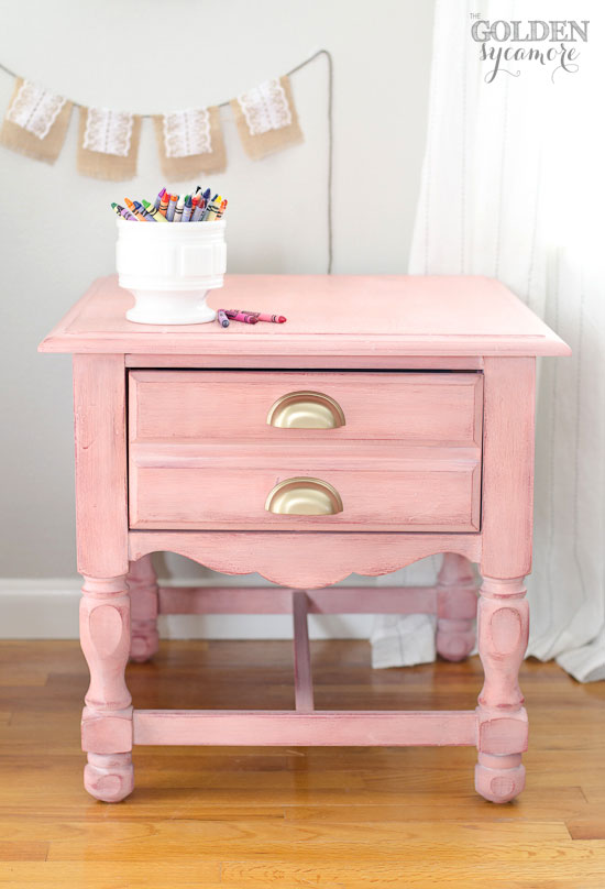 Pastel Side Table ~ Pitterandglink the crafted collective decorating with