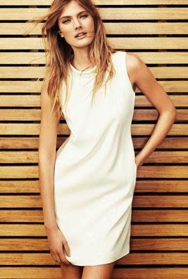 Massimo Dutti vestido blanco primavera verano 2014