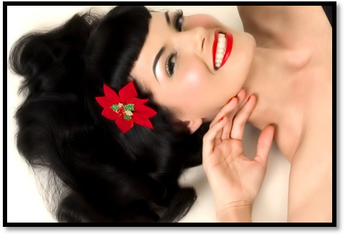 For this glam 50s wedding makeup look your lips need to be red bold