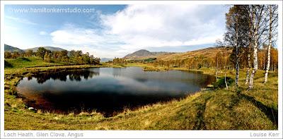 Glen Clova Angus Scotland silver birches reflection landscape autumn Hamilton Kerr