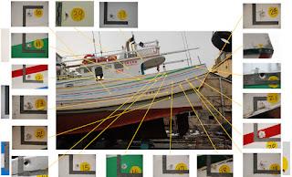 廣大興28號漁船左舷後段彈著點示意圖