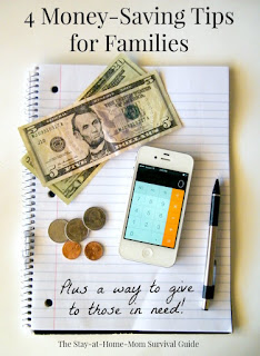 4 Money-Saving Tips for Families PLUS a way to give back to those in need! Handy tip for linking giving to charity to purchases we have to make already. Giving is easy then. Lots of options with Giving Assistant.