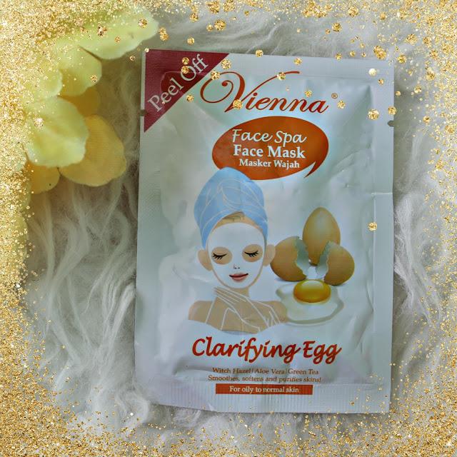 vienna face spa mask purifying black mud Masker Wajah Vienna Clarifying Egg