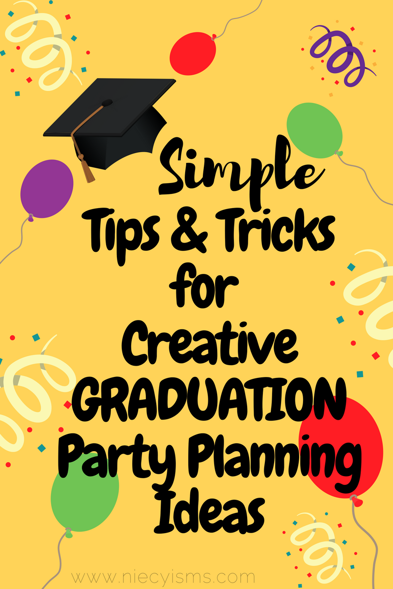 Simple tips and tricks for creative graduation party for Minimalist tips and tricks