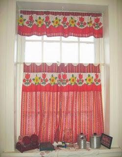 Cortinas con mucho color para la cocina decoracion de for Decoracion cortinas cocina