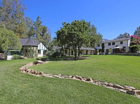 Exterior of Reese Witherspoon's Ranch in Ojai, California