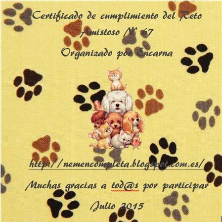 Certificado de cumplimiento nº 67