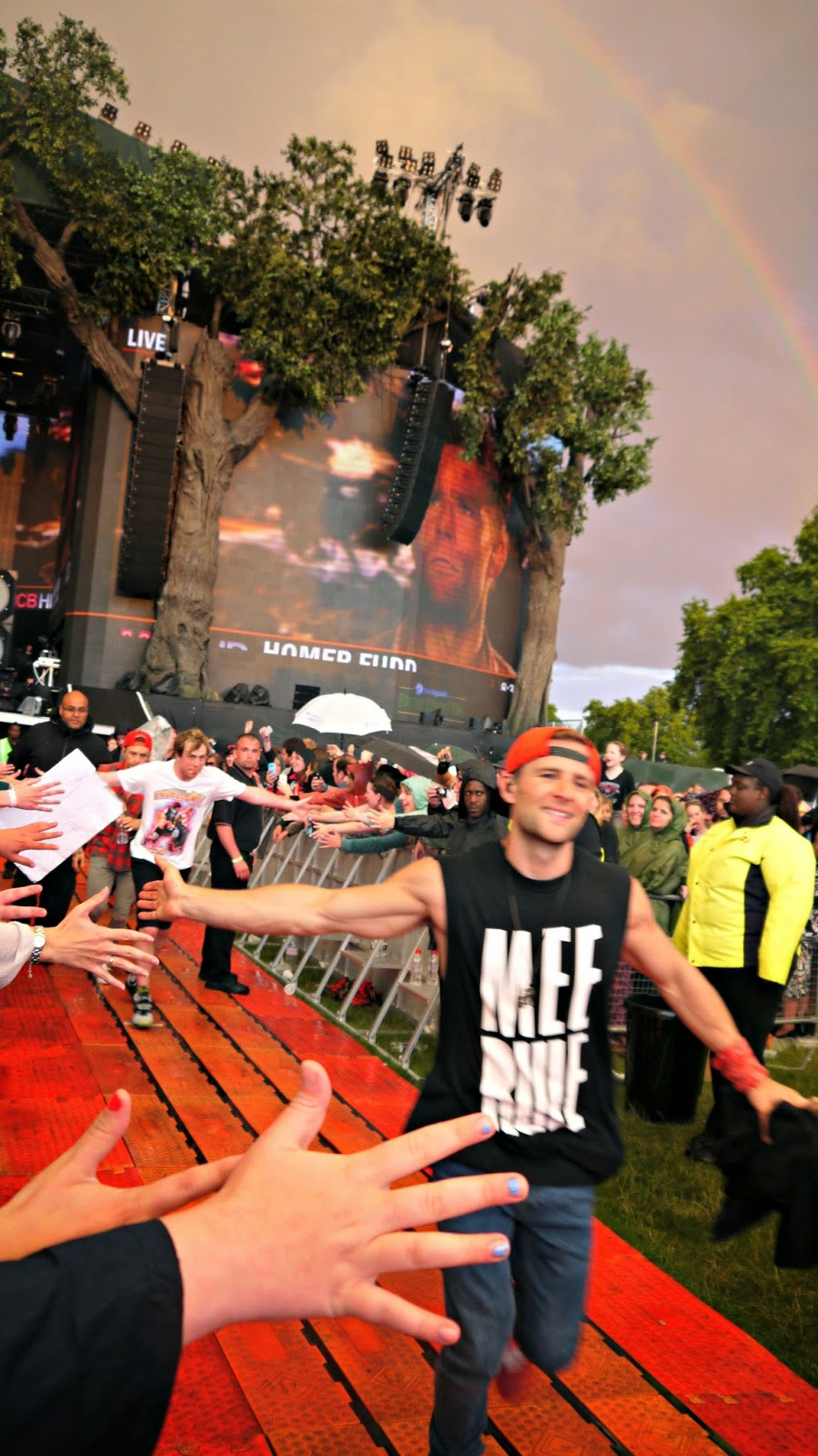 Harry from McBusted at British Summer Time Hyde Park