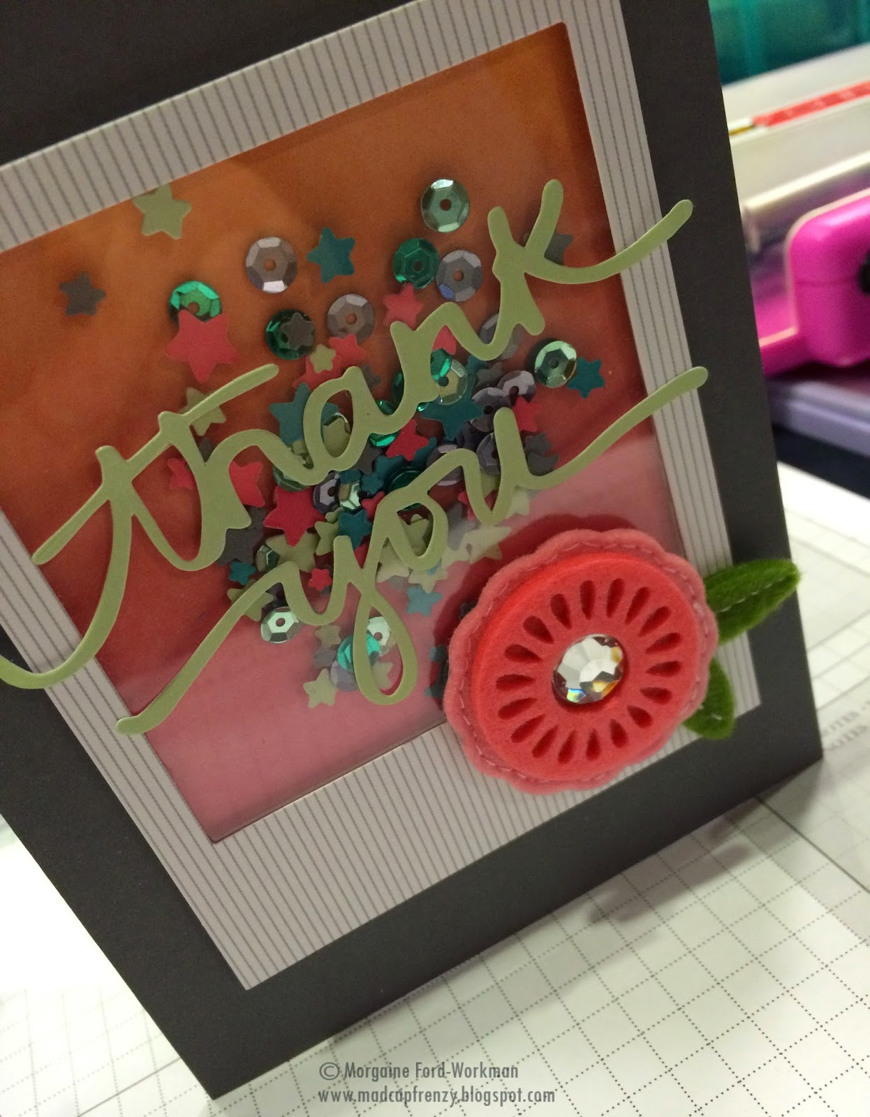 Madcap Frenzy Stampin Up! thank you card