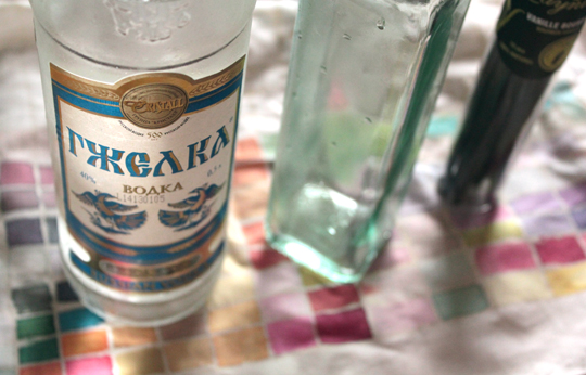 vodka for DIY homemade vanilla extract