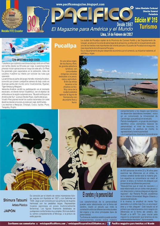 Revista Pacífico Nº 315 Turismo