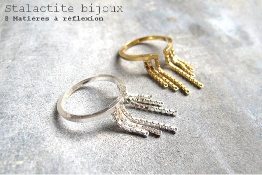 Bijoux chaîne Stalactite bijoux vermeil Cascade doré