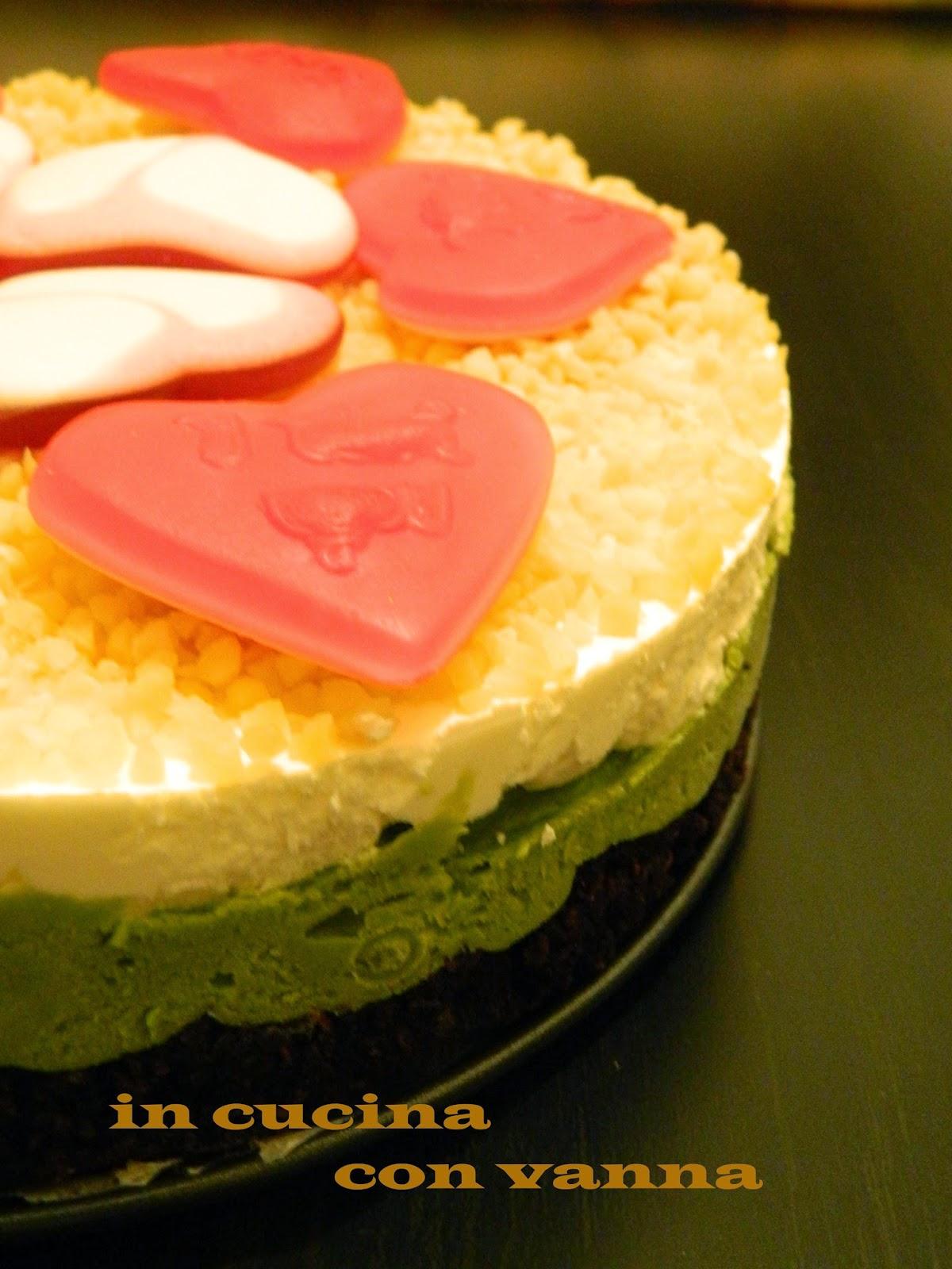 cheesecake alla crema di pistacchio