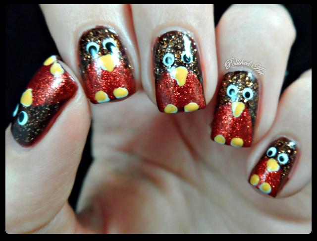 christmas-nail-art-glitter-robins
