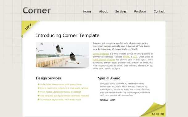 Free Professional Blog Business HTML Web Template