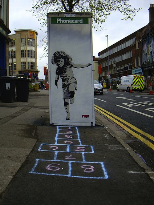 Hopscotch phone booth