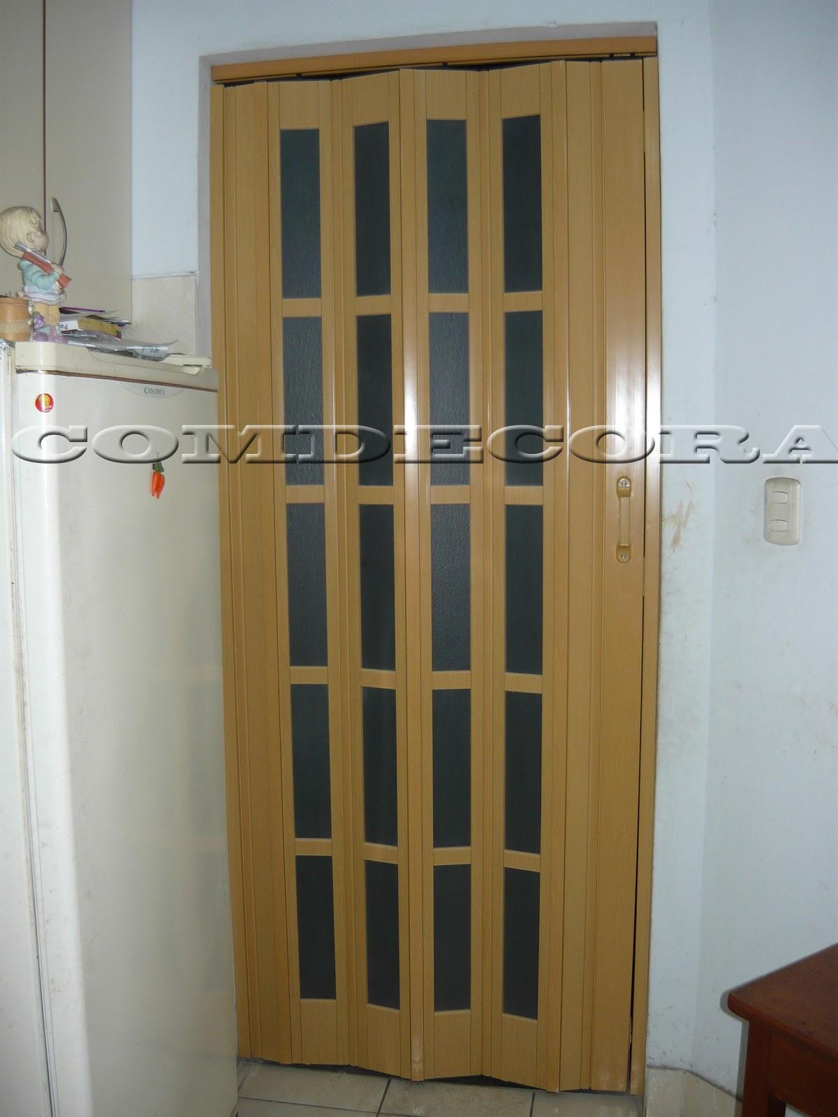 Comdecora puertas plegadizas paneles de madera dise adas for Puertas plegadizas de madera