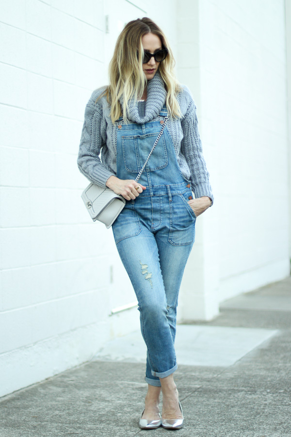 the perfect fitted denim overalls parlor girl
