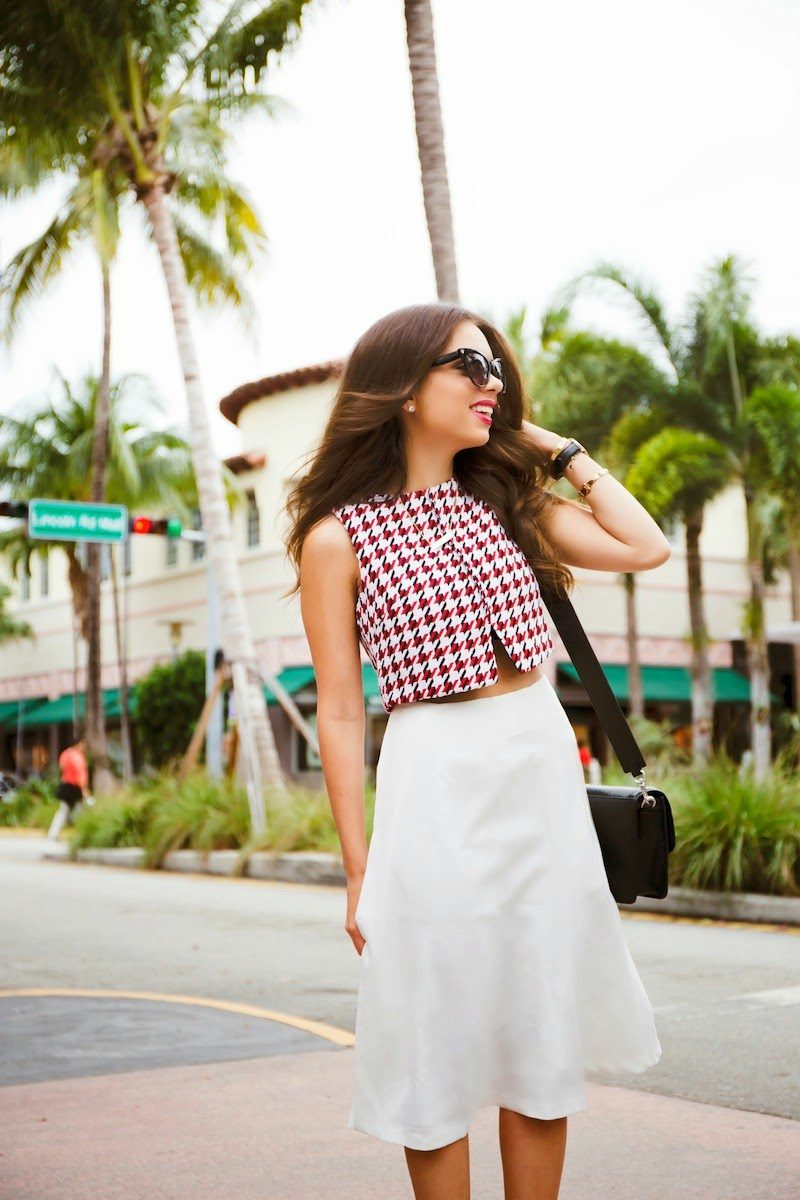 miami fashion blogger, fashion blogger, nany's klozet, daniela ramirez, midi skirt, crop top, how to wear, fashion trends, fashion blogger