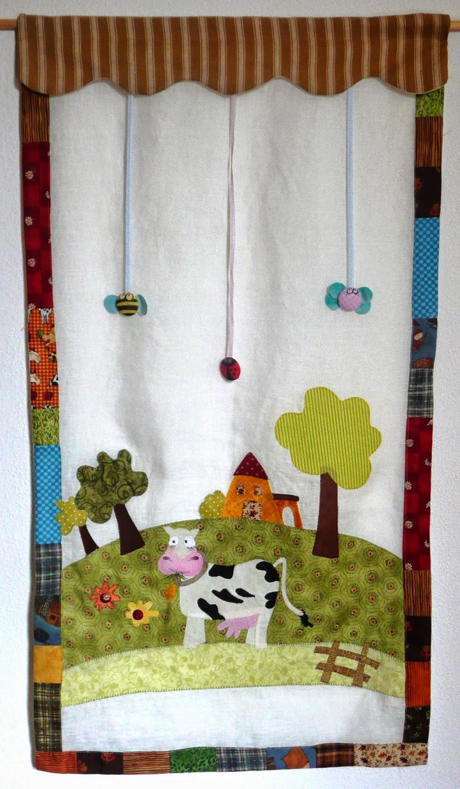 Il patchwork veste casa tende patchwork linea bimbi for Applique cameretta bimbi