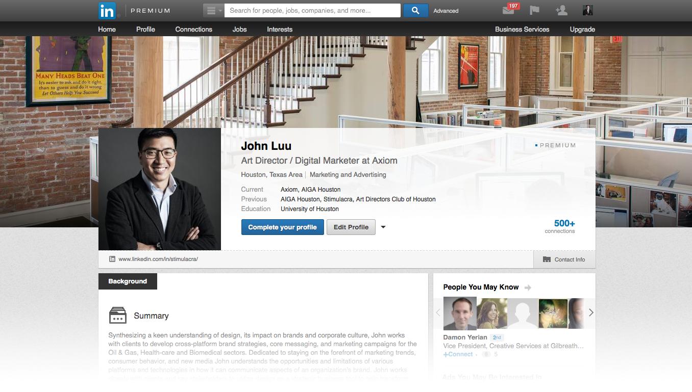 Axiom Creative Energy: John Luu, Premium LinkedIn Profile
