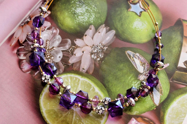 Oriflame Purple Glam jewelry set. Oriflame jewelry/jewellery. Purple jewelry. 2015 jewelry trends.