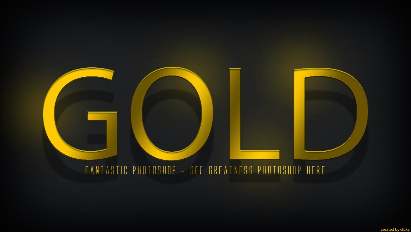 Cara membuat gold text effect