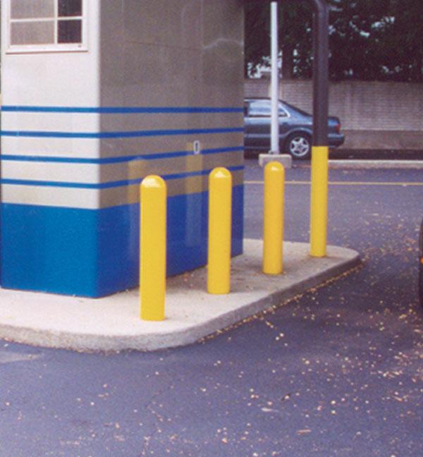Concrete Pole Barriers : Bollard ideal applications for traffic bollards