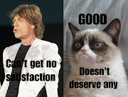 Grumpy cat meets the Rolling Stones. Grumpy cat meets the Rolling Stones