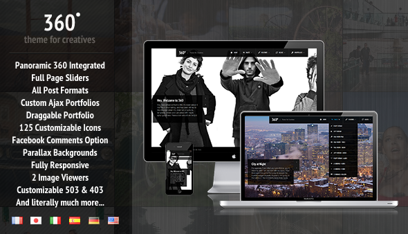 360 Panoramic WordPress Theme free