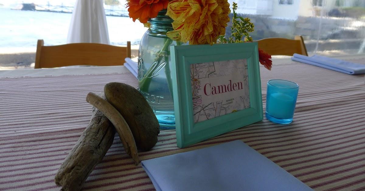 Flora Fauna Blue Yellow Orange And Red Weddinga Pop Of Fall Color Camden Yacht Club
