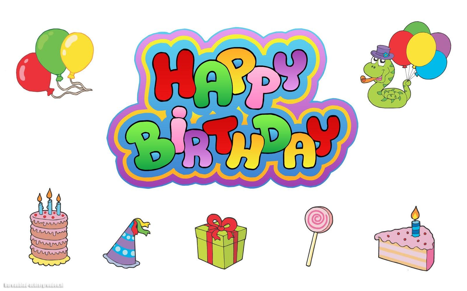 Witte Afbeelding Verjaardag Met De Tekst Happy Birthday