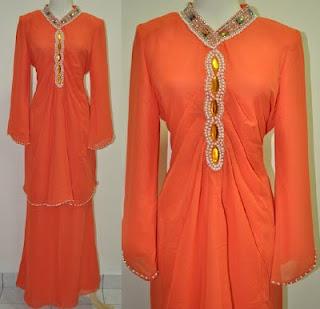 baju kurung fesyen berlabuci