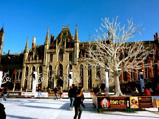 Ice Rink at Bruges Christmas Market