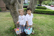 Mateo with his cousin Greta at Easter Celebration