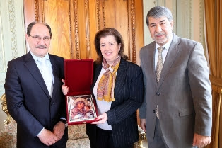 Sartori recebe embaixador da Palestina