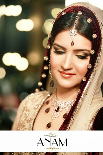 PakistaniBridalMakeupPictures2014 005 wwwshe stylesblogspotcom - Bridal Makeup Pictures 2014 by Anam.