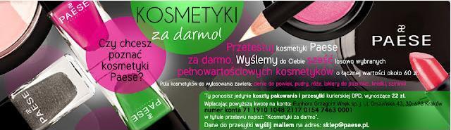 Kosmetyki Paese prawie za darmo