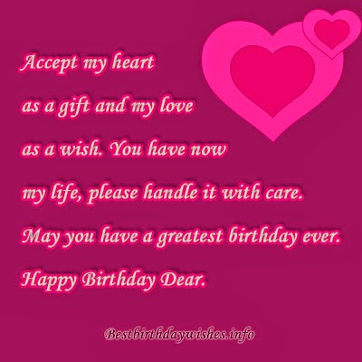 My Love Birthday Wishes