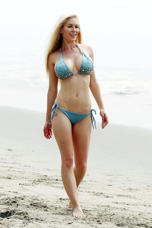 Heidi Montag – Bikini Photoshoot Candids in Santa Monica